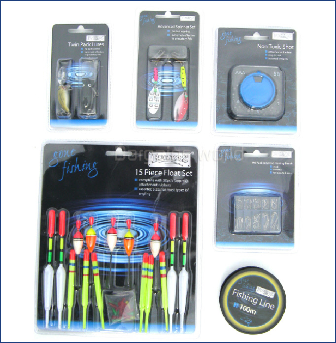 Fishing Tackle Set Floats Weights Hooks Plugs Lures